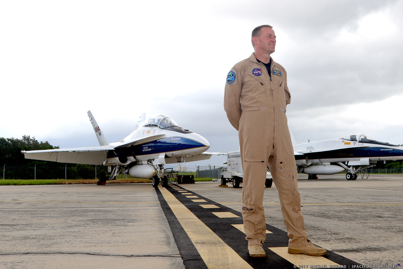 NASA F-18 chase plane tests ways to soften sonic booms