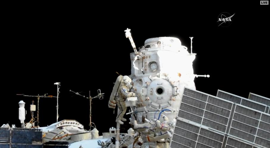 A view of Pirs during a Russian spacewalk. Credit: NASA