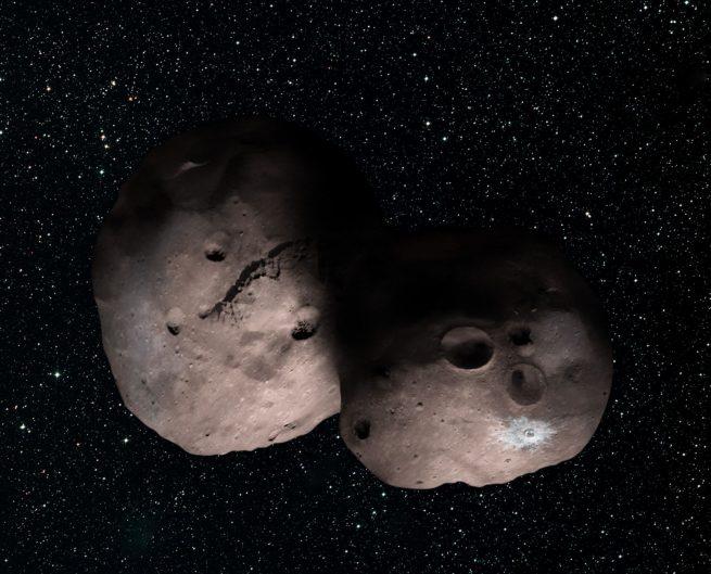 Artist's concept #1 of Kuiper Belt Object 2014 MU69,