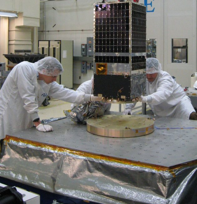 Kestrel Eye will test the possibility of building and launching clusters of small, relatively inexpensive satellites that have sufficient optical capability to provide useful, real-time information over an extended period of time. Photo Credit: U.S. Army