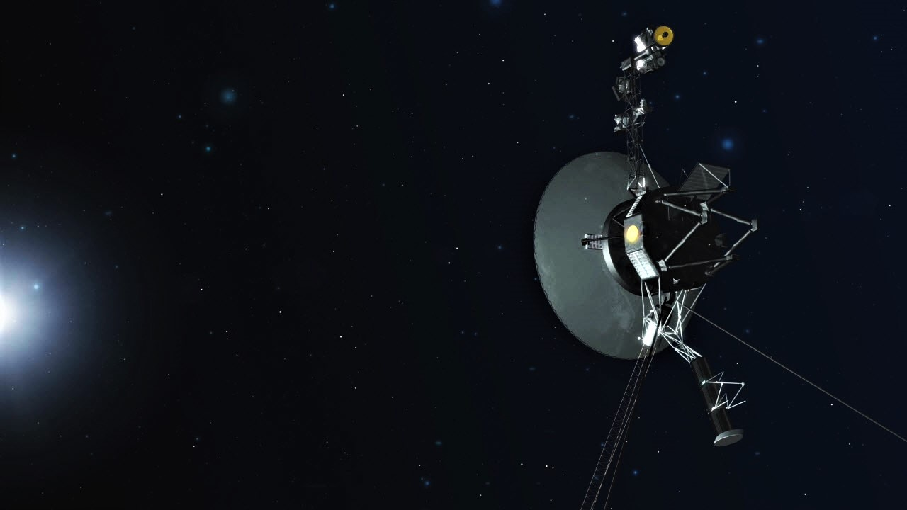 The Voyager 1 spacecraft in deep space (artist's rendition).