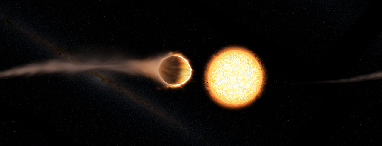 Hubble spots exoplanet with gl...