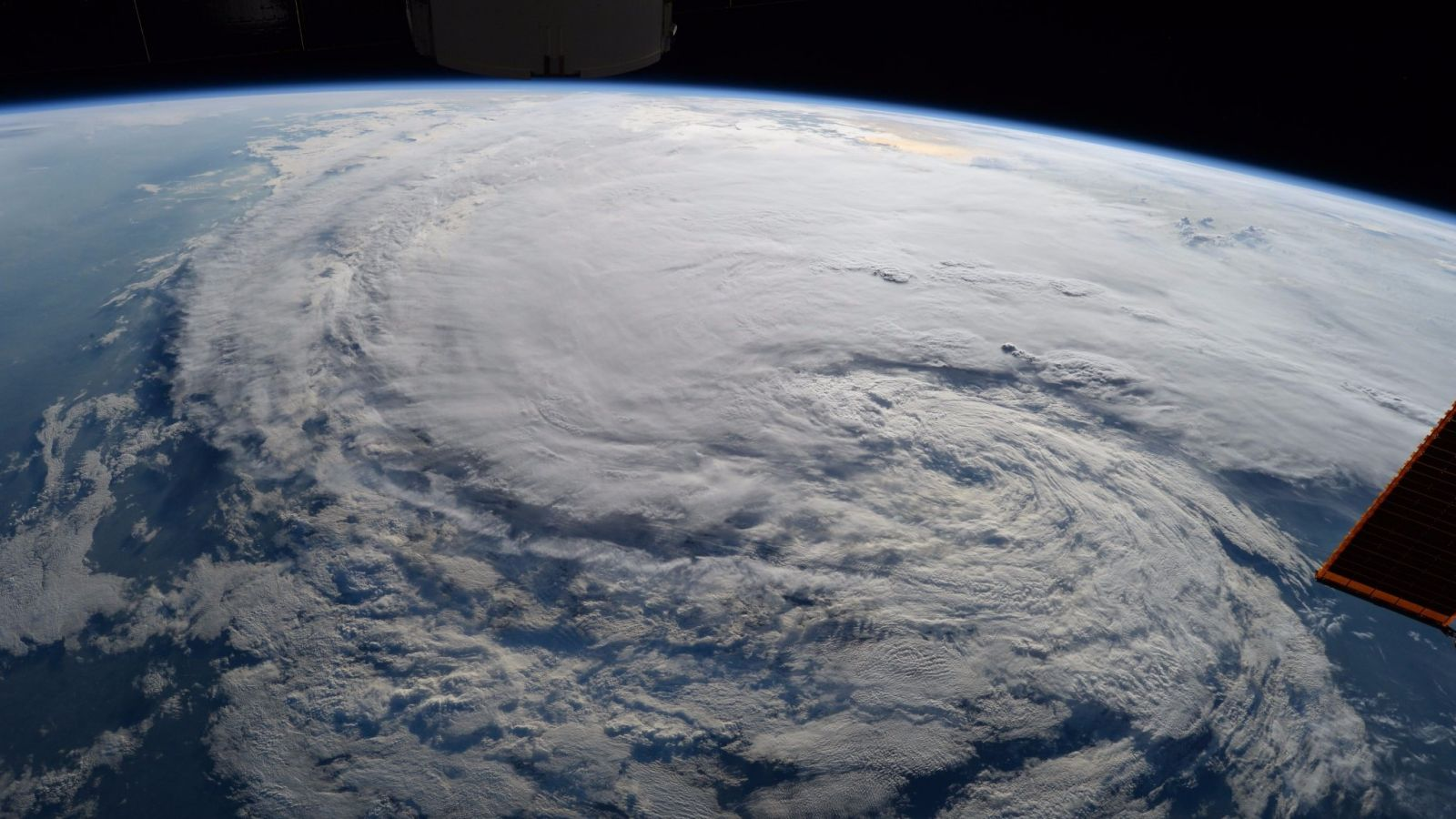 Tropical Storm Harvey as seen by the crew of the International Space Station on Aug. 29, 2017. Photo Credit: Randy Bresnik / NASA
