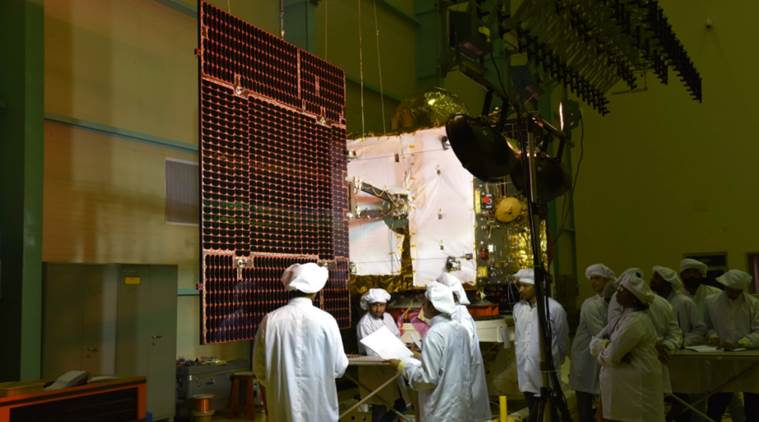 IRNSS-1H undergoing testing. Photo Credit: ISRO