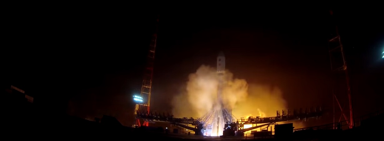 A Soyuz-2.1b rocket with GLONASS-M No. 52 spacecraft launches from Plesetsk Cosmodrome on Sept. 22.