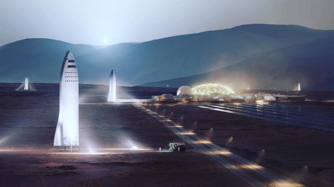 The ultimate purpose of the BFR would be to help colonize Mars. Image Credit: SpaceX