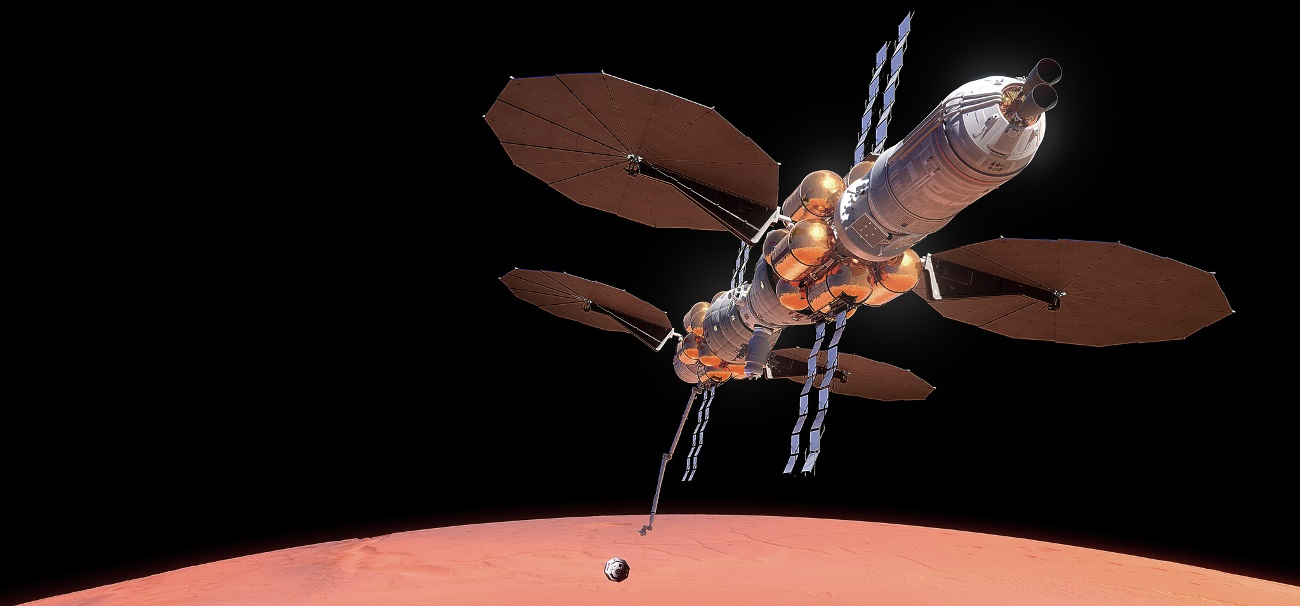 Lockheed Martin announced its Mars Base Camp proposal at the International Astronautical Congress (IAC) in Adelaide, Australia on Thursday, September 28, 2017. Image Credit: Lockheed Martin