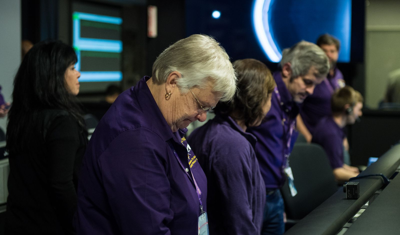 Julie Webster, spacecraft operations team manager for the Cassini mission. Photo Credit: Joel Kowsky / NASA