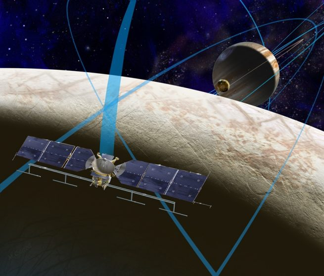 Artist's depiction of NASA's Europa Clipper Mission