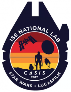 CASIS has partnered with Lucasfilm to design its latest mission patch for ISS research. Image credit: CASIS
