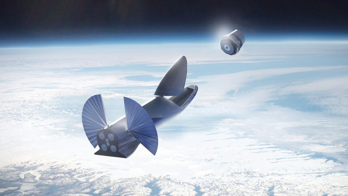 The BFR deploys a large telescope in this illustration. Image Credit: SpaceX