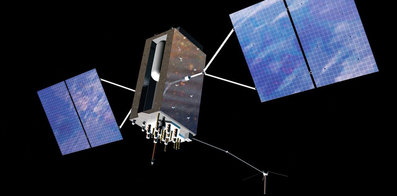 Playback of the satellite GPS III. Image source: Lockheed Martin