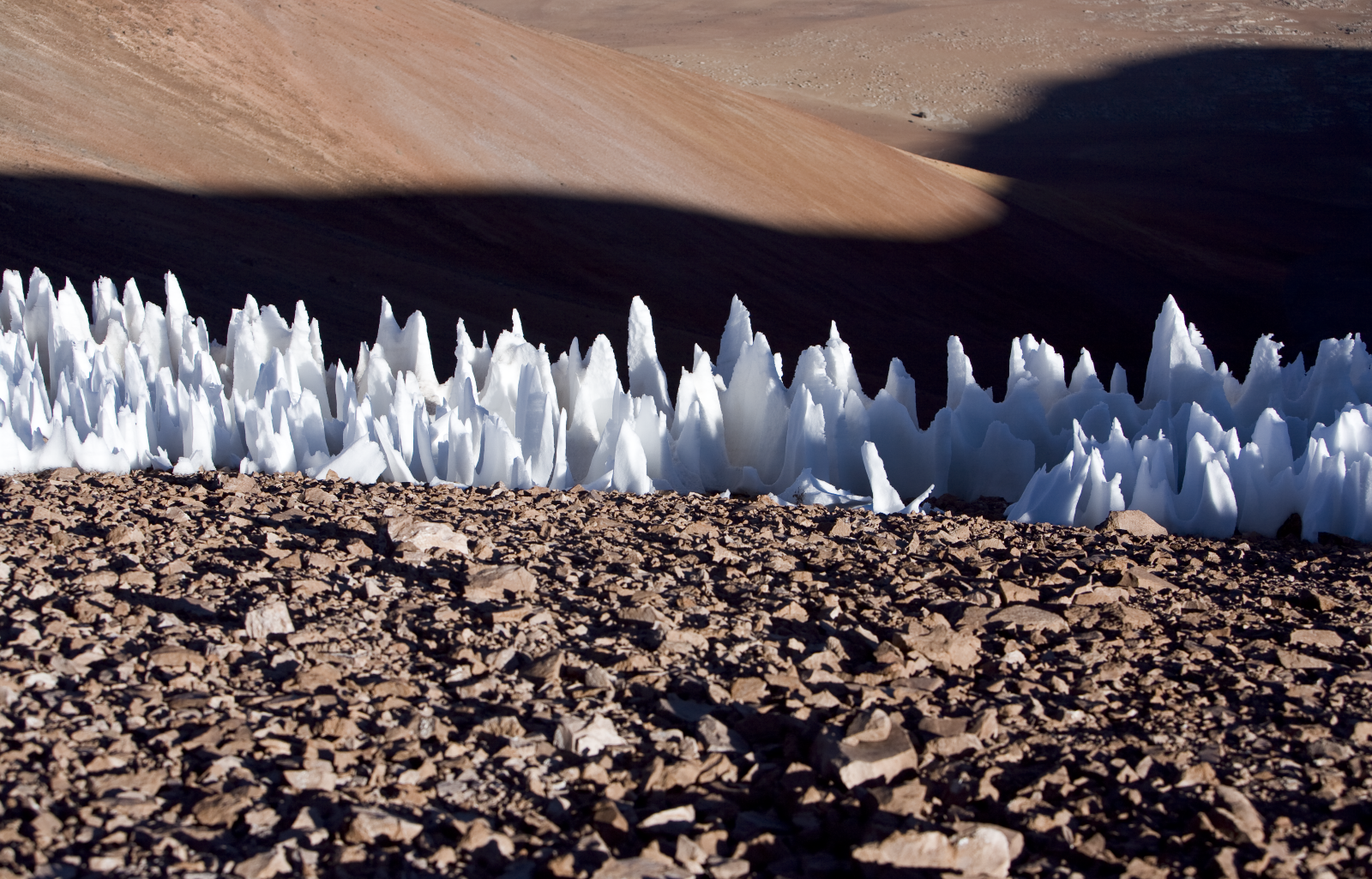 Penitentes Ice Formations in Chile