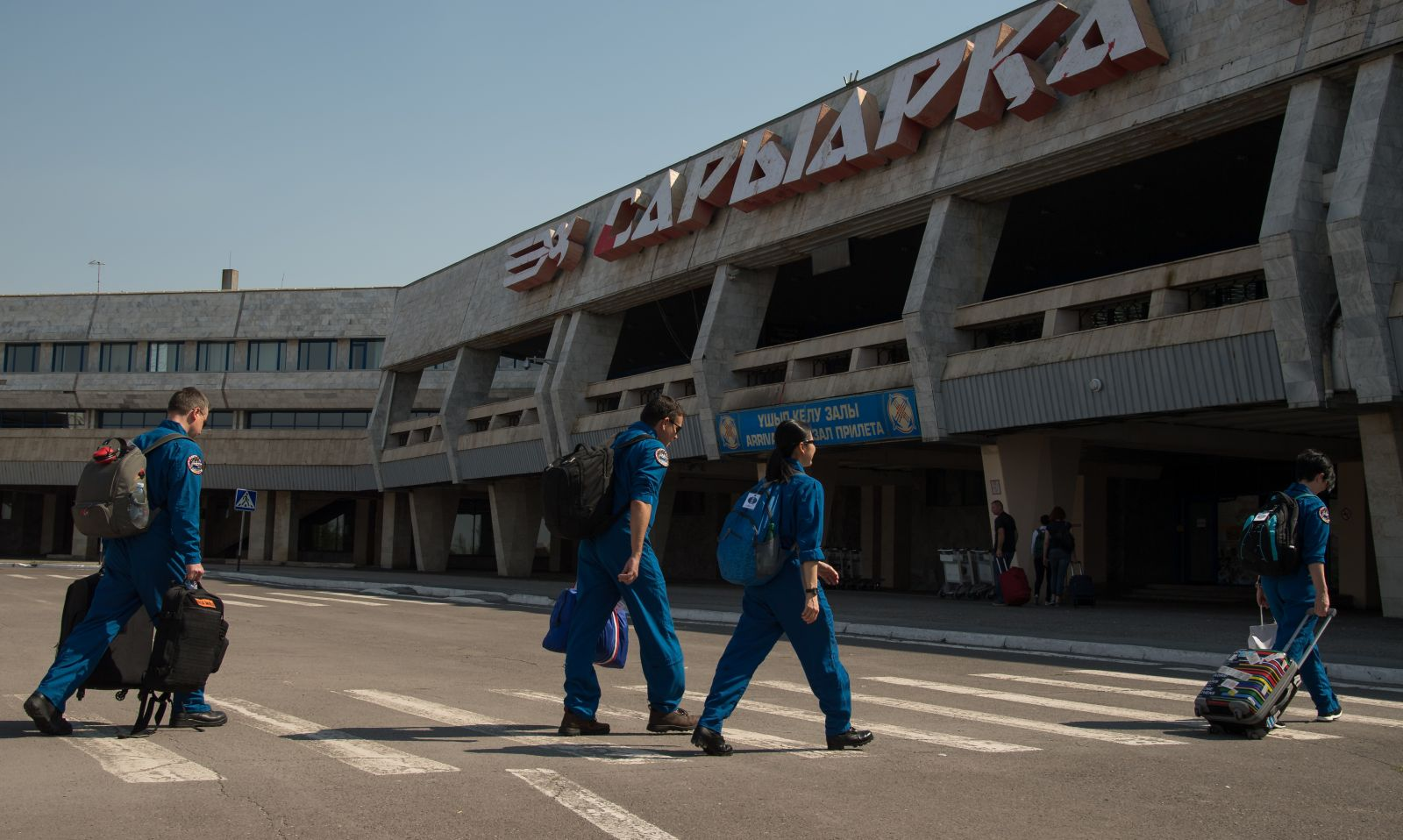 NASA, Roscosmos and Russian Search and Rescue teams deploy from the Karaganda Airport to Zhezkazgan in order to prepare for the Soyuz MS-04 landing. Photo and Caption Credit: BIll Ingalls / NASA