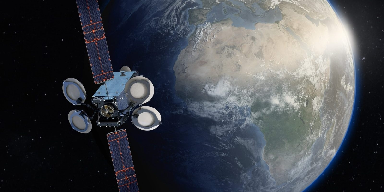 Amos-17 / BSS-702MP satellite in Earth orbit