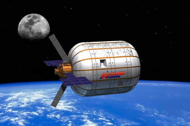 An artist's rendering of a B330 habitat in Earth orbit. Image Credit: Bigelow Aerospace