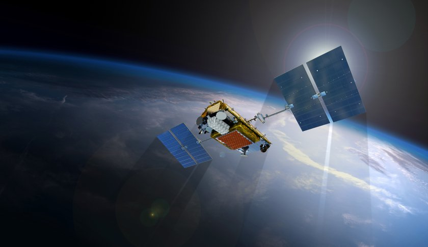 A rendering of an Iridium NEXT satellite. Image Credit: Iridium Communications