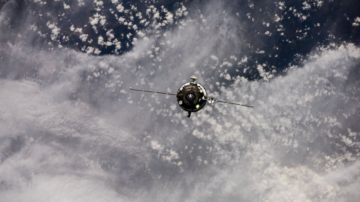 Progress MS-07 on final approach to the International Space Station. Photo Credit: Roscosmos