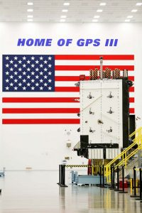 GPS III satellite (SV01). Photo Credit: Lockheed Martin