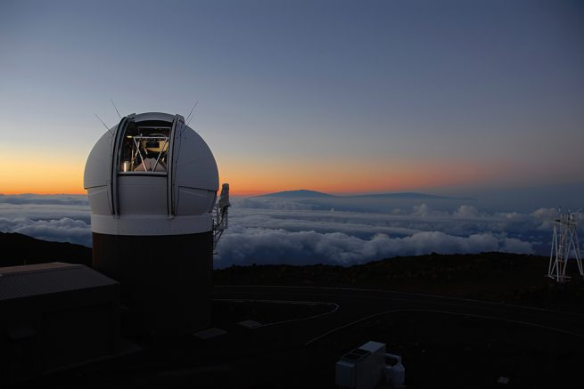 Pan-STARRS1 Observatory atop Haleakala Maui at sunset. Photo Credit: Rob Ratkowski