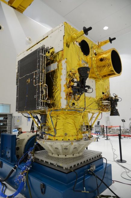 VRSS-2 satellite being prepared for the launch.