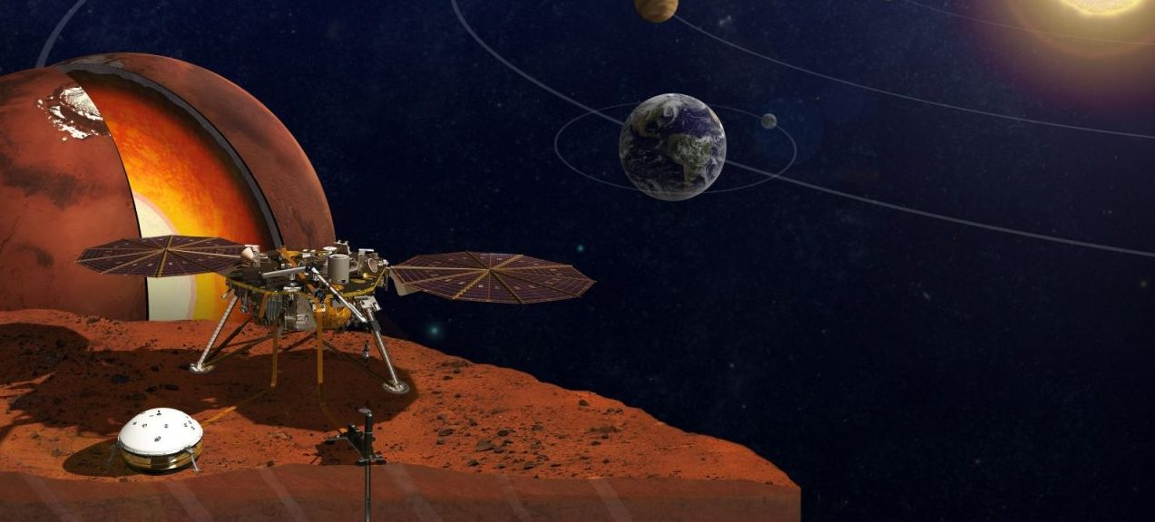 NASA's InSight lander will travel to Mars next year. When it does, it will be carrying two microchips bearing the names of members of the public. Image Credit: NASA/JPL-Caltech