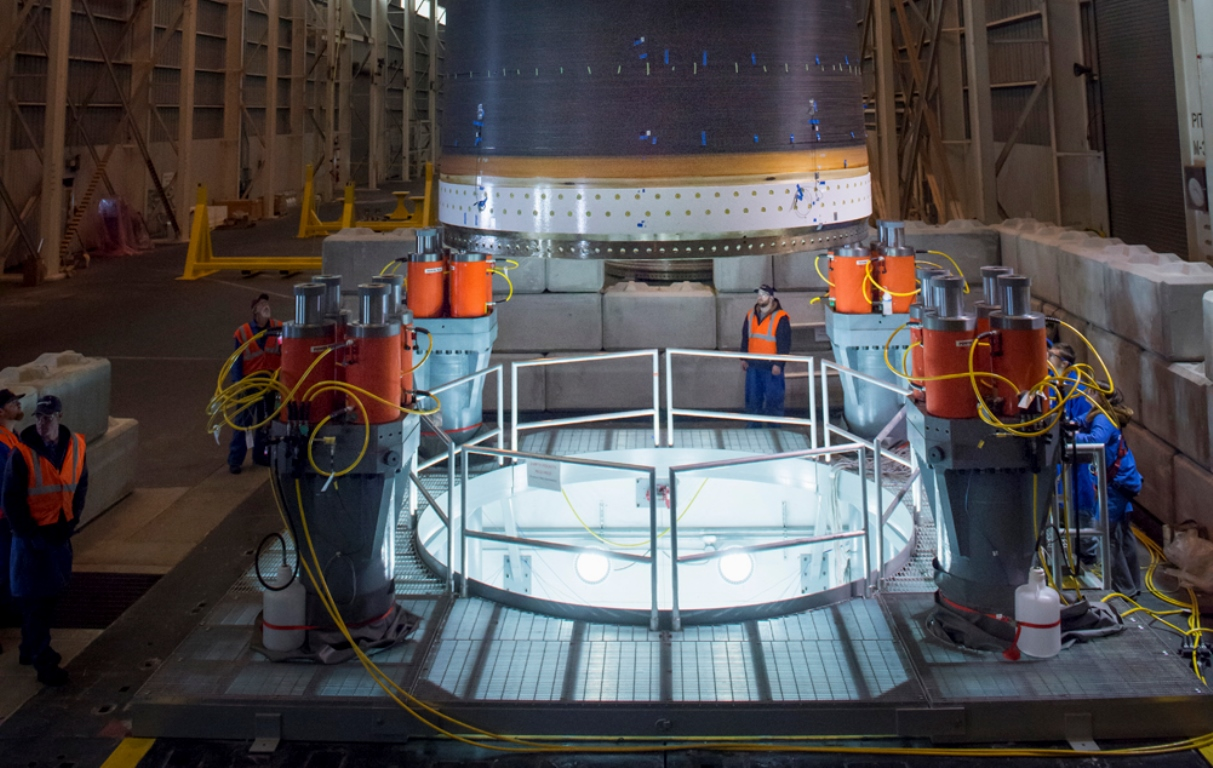 Orbital ATK has successfully tests first motor case for Next Generation Launch Vehicle. Photo Credit: Orbital ATK