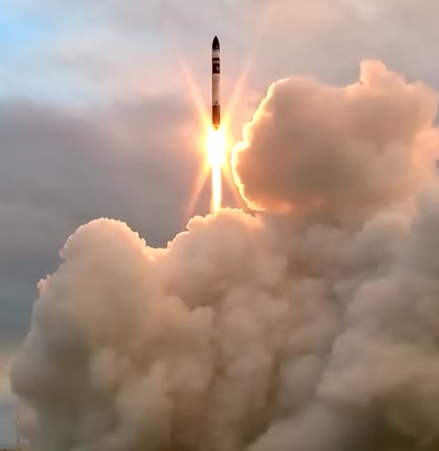 Electron rocket climbs spaceward on its inaugural launch on May 25, 2017