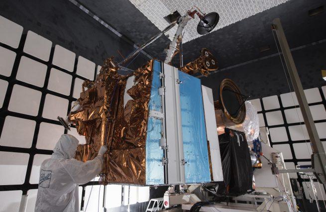 JPSS-1 undergoing EMI check