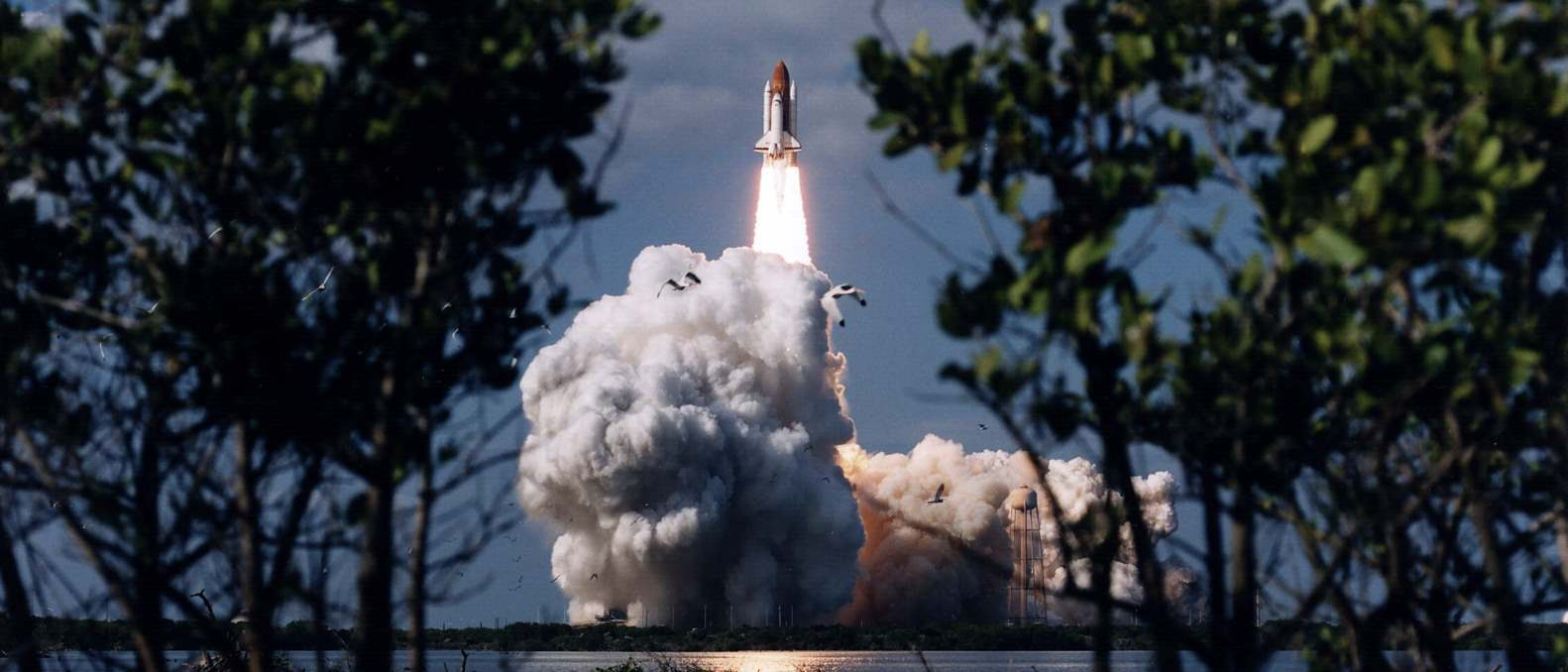 Space Shuttle Columbia lifts off from NASA's Kennedy Space Center in Florida on mission STS-80 on Nov. 19, 1996. Photo Credit: NASA