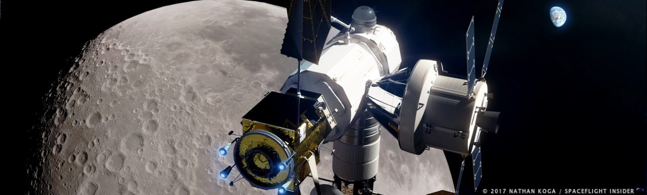 Lunar-bound spacecraft. Image Credit Nathan Koga SpaceFlight Insider