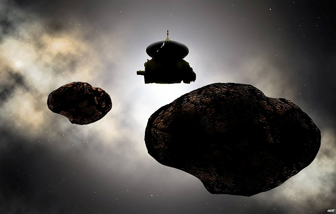 New Horizons spacecraft in Kuiper Belt image credit NASA JPL JHUAPL Carlos Hernandez