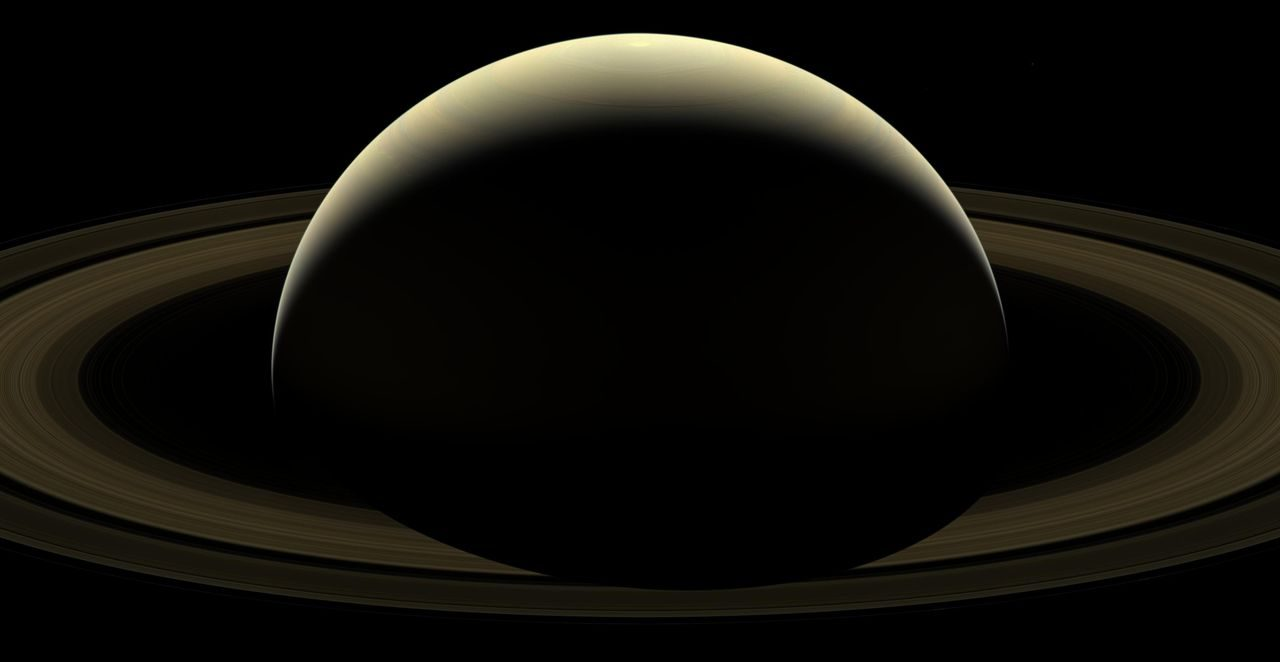 The Cassini spacecraft's final view of Saturn