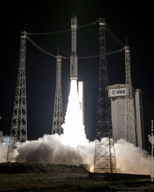Launch of the Vega flight VV11 with the MOHAMMED VI–A satellite