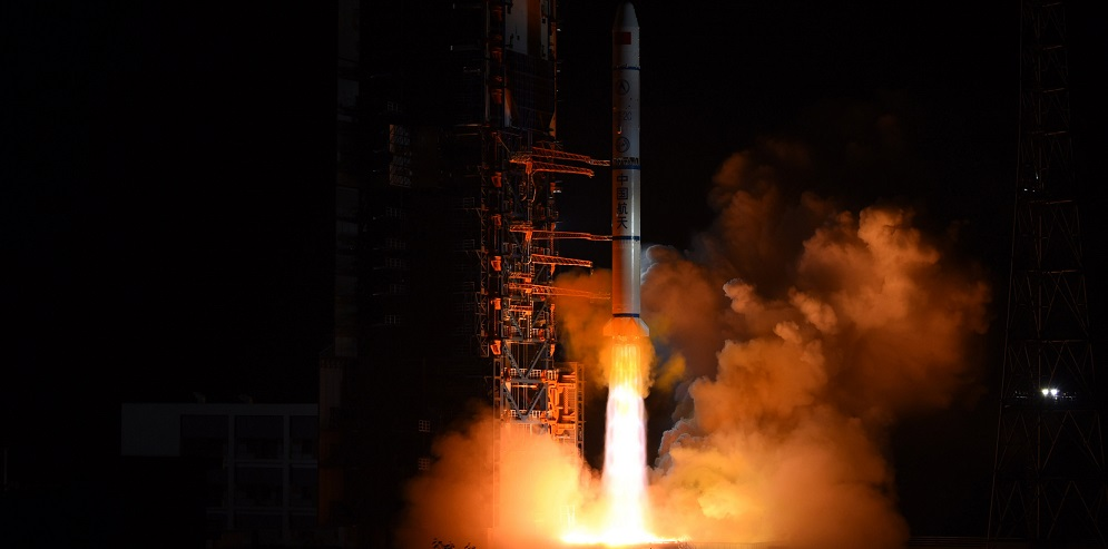 Long March 2C launches from Xichang Satellite Launch Center with three Yaogan-30 02 reconnaissance satellites.