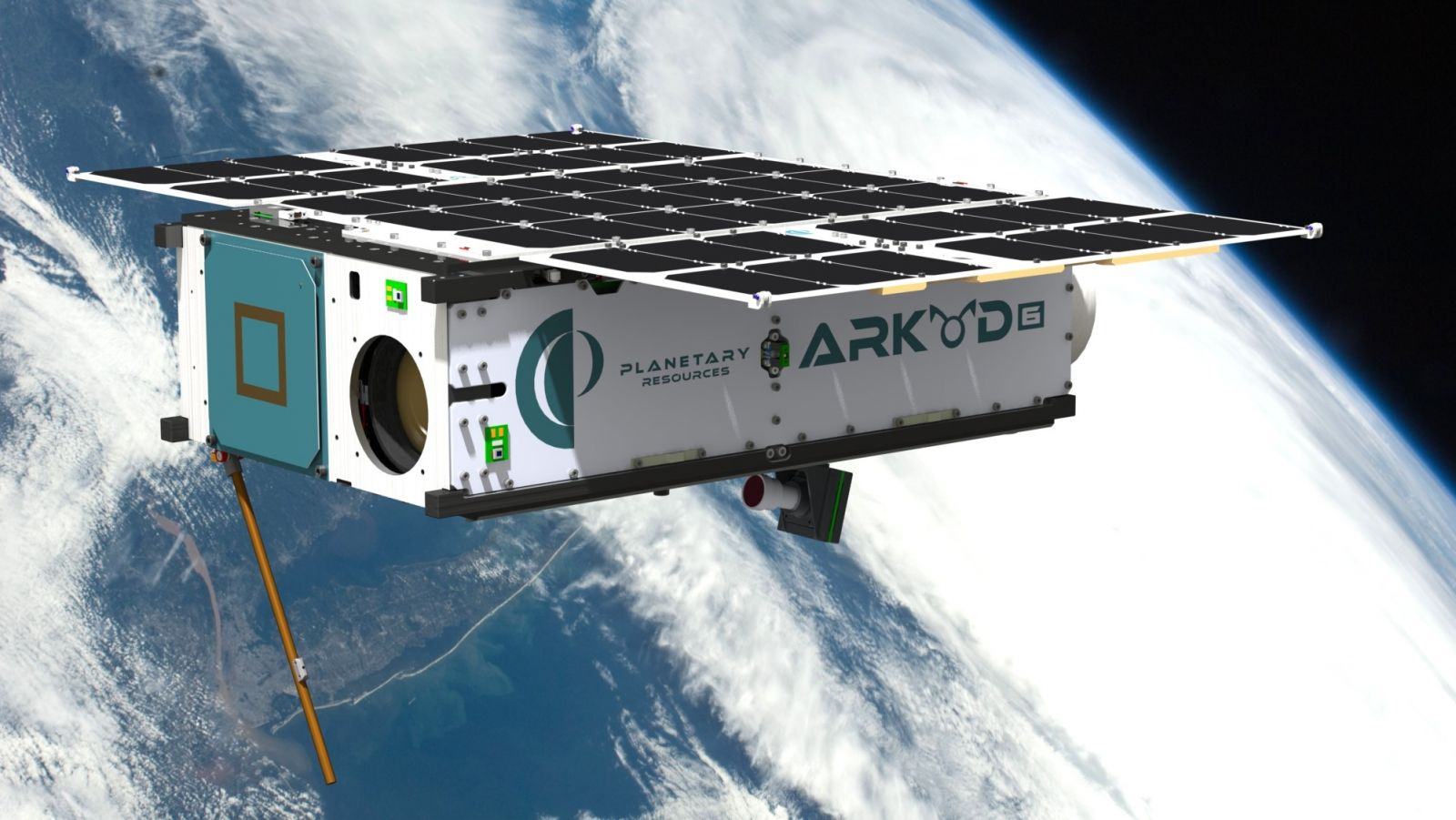 An artist's rendering of the Arkyd-6, a Planetary Resources asteroid miner prototype CubeSat. Image Credit: Planetary Resources