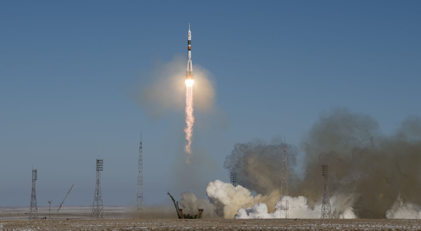3 astronauts blast off for International Space Station