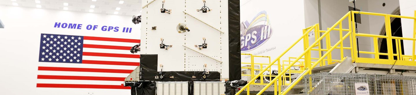 GPS III satellite undergoing production. Photo Credit: Lockheed Martin