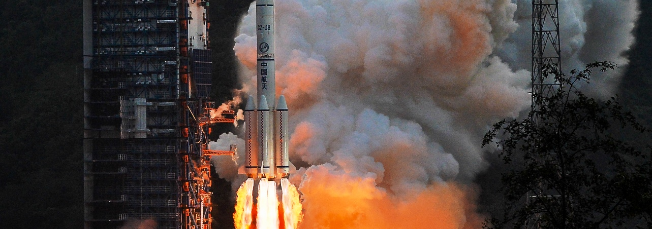 A file photograph of an earlier Long March 3B launch. Photo credits: Xinhua
