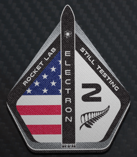 The mission patch for the second flight of Rocket Lab's Electron rocket. Image credit: Rocket Lab