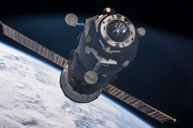 A Russian Progress cargo spacecraft
