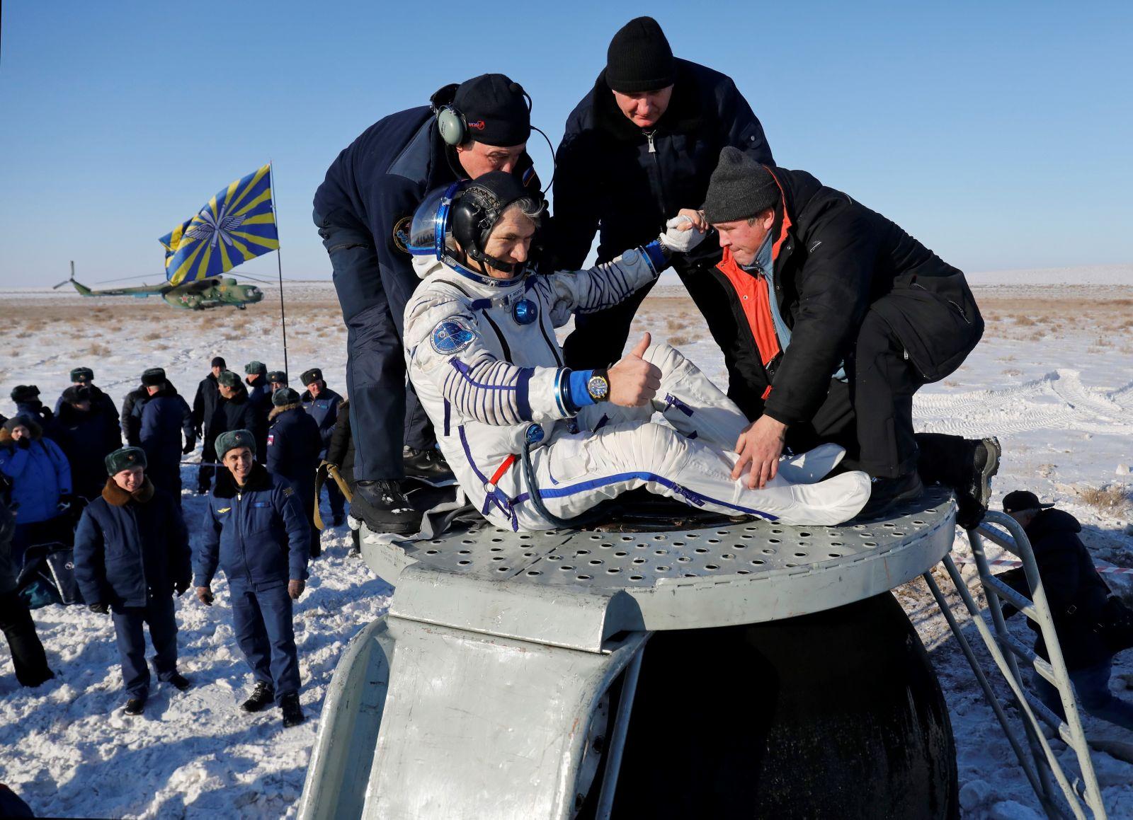 Soyuz MS-05 crew member Paolo Nespoli (ESA)