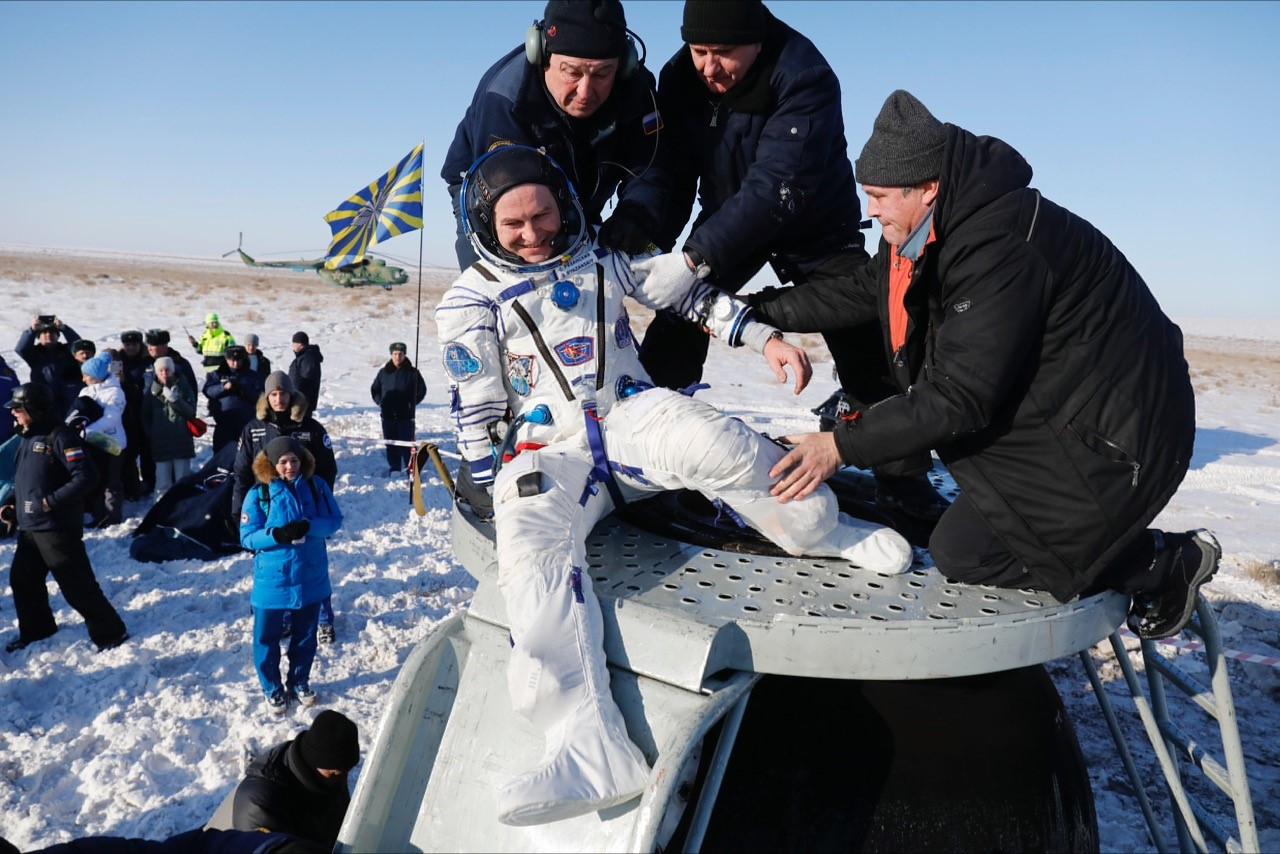 Three astronauts return to Earth after six months on ISS