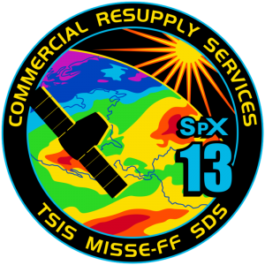 SpaceX CRS 13 mission patch image credit SpaceX