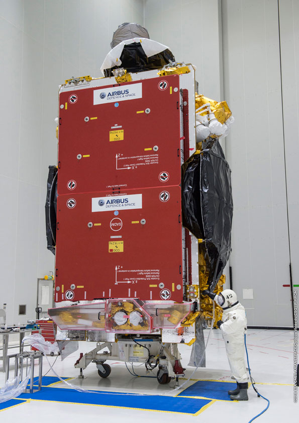 SES-14 is fueled in the S5 payload preparation facility.