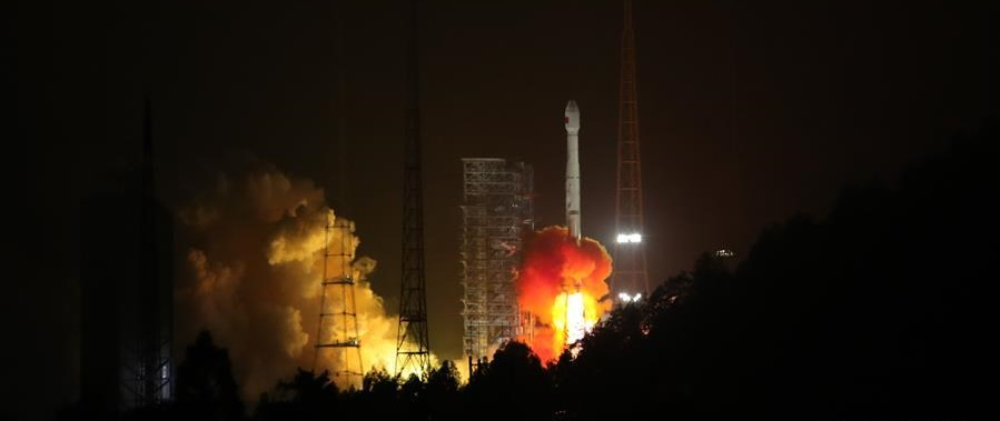 Long March 3B lifts off with two BeiDou-3 satellites on January 11, 2018.