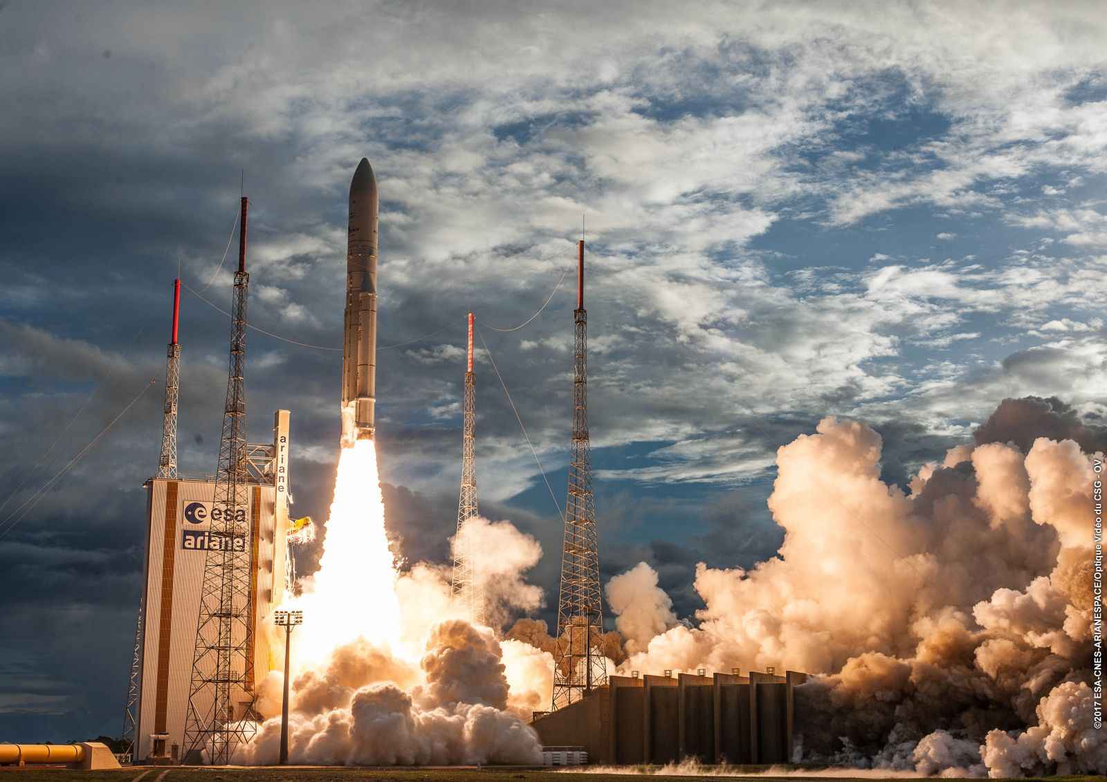 An Ariane 5 lifts off from Kourou, French GUiana. Photo Credit: Arianespace