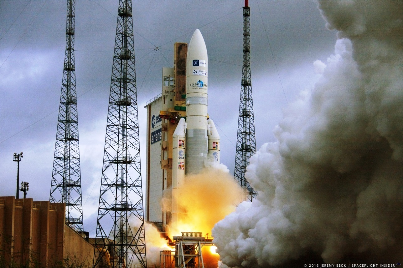 Ariane 5 launches from Kourou French Guiana photo credit Jeremy Beck SpaceFlight Insider