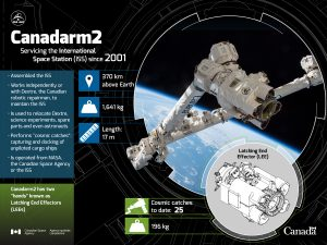 An overview of Canadarm2. Image Credit: Canadian Space Agency