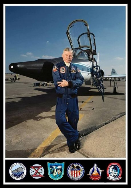 John Young in front of T-38 Talon image credit NASA